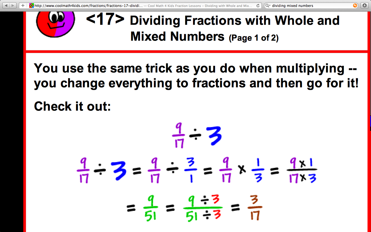 dividing mixed numbers | mrelders