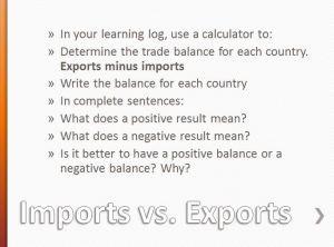 Imports vs exports
