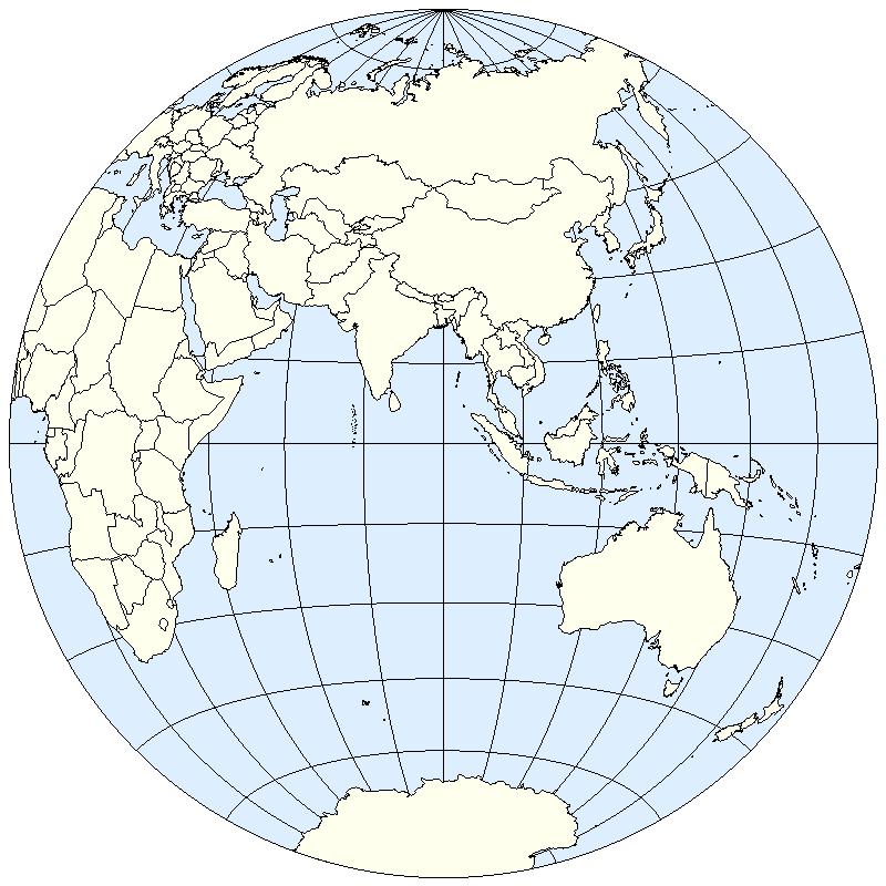 Eastern Hemisphere Maps